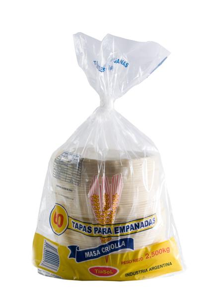 Tapas empanadas para rotisería Tía Sol. Signo de Oro