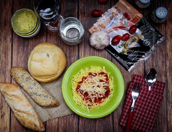 Receta de fideos con Salsa de tomate