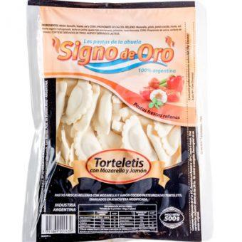 Torteletis con mozarella y jamón